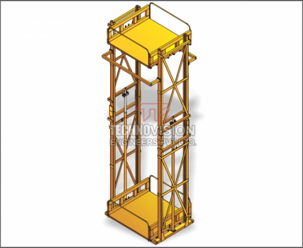 double mast hydraulic lift